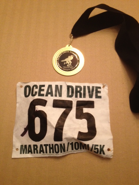 Number 3 of my 12 in '12: The 2012 Ocean Drive Marathon